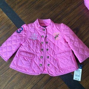 Pink quilted Ralph Lauren jacket